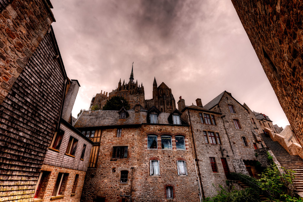A view from inside Mont Saint Michel
