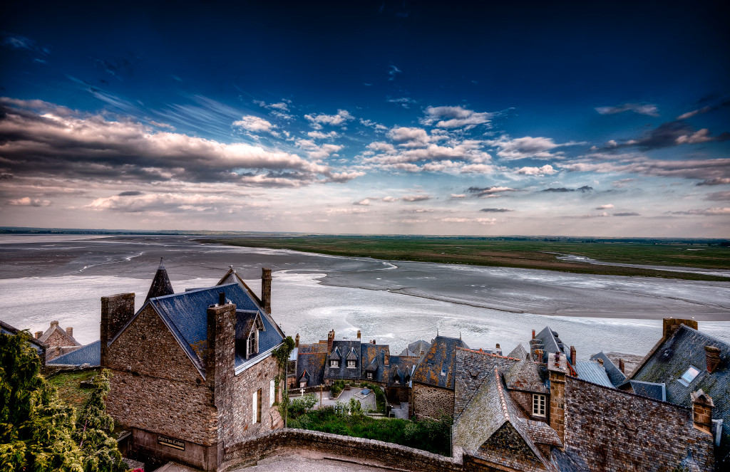 The french coast from inside Mont Saint Michel
