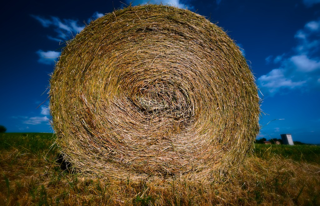 a bale of golden hay