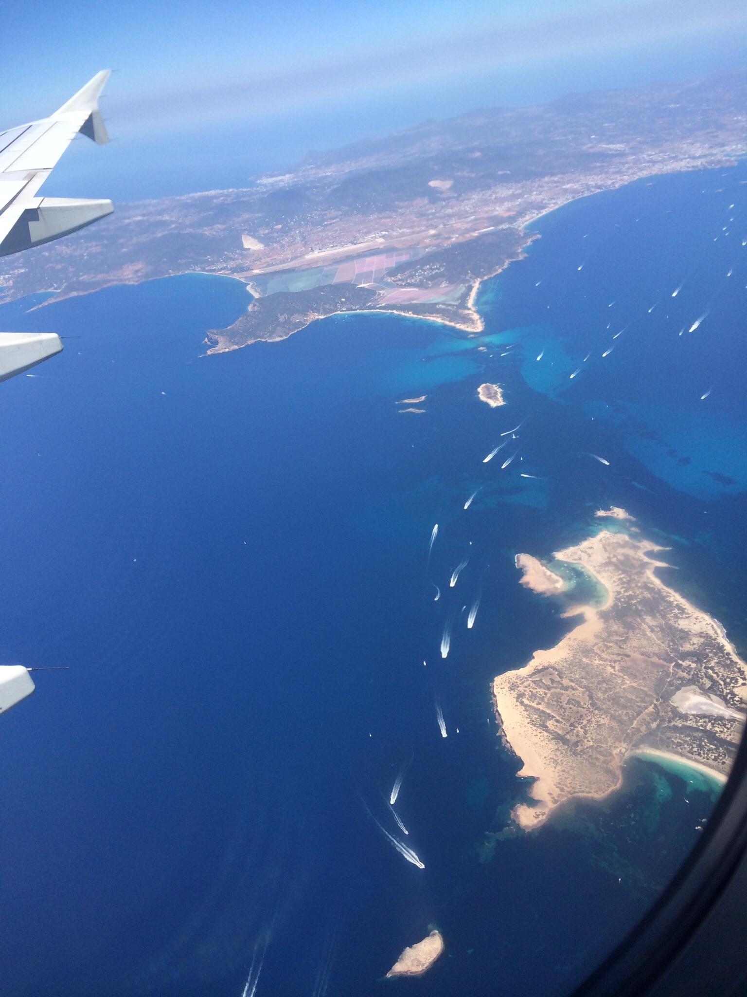 Formentera Island fom the sky