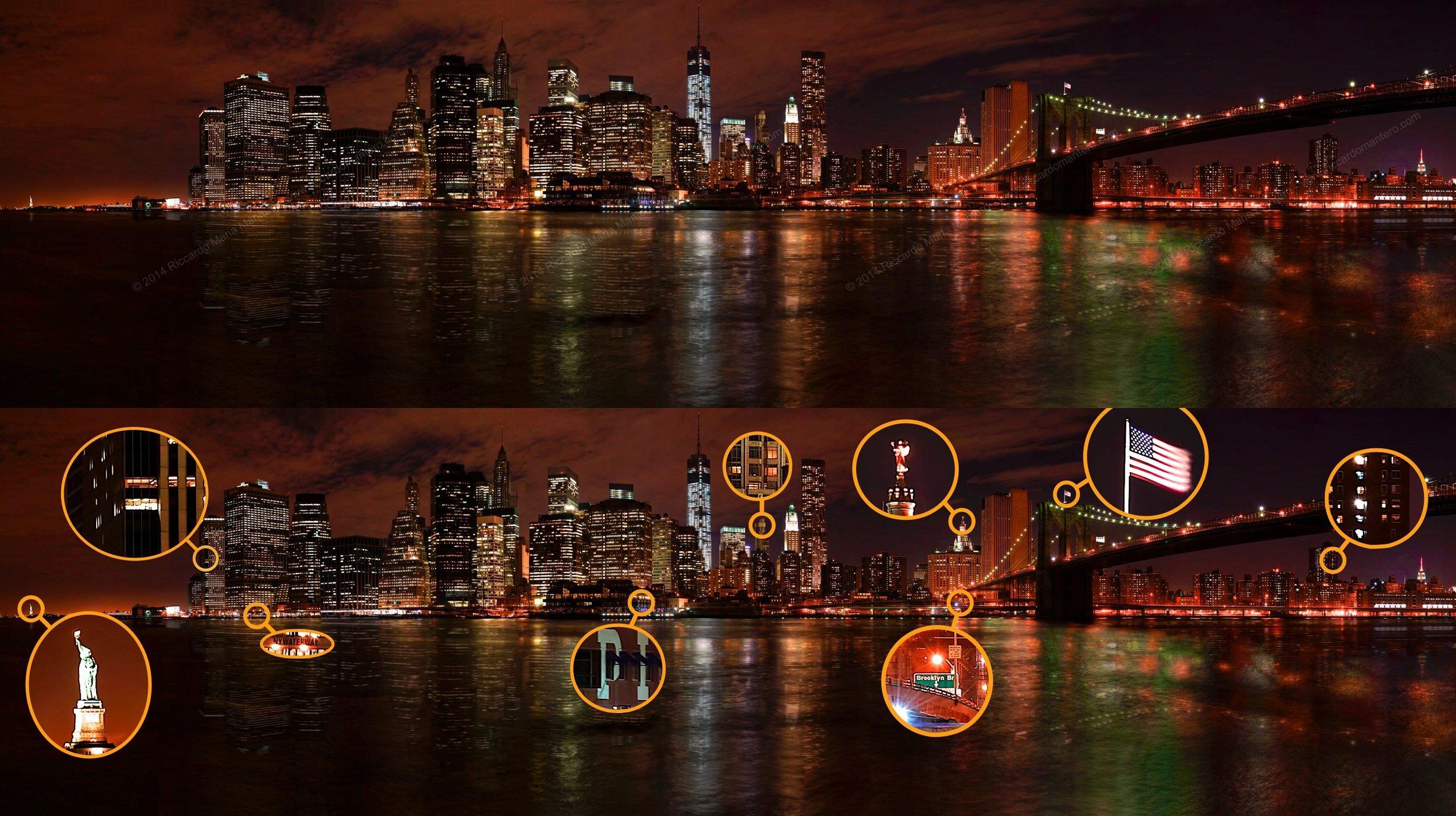 Manhattan Skyline with details
