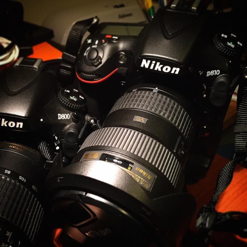 Nikon D800 and D810 Reflex cameras