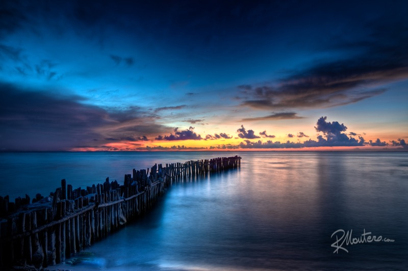 Dramatic Sunset in Isla Mujeres, Mexico