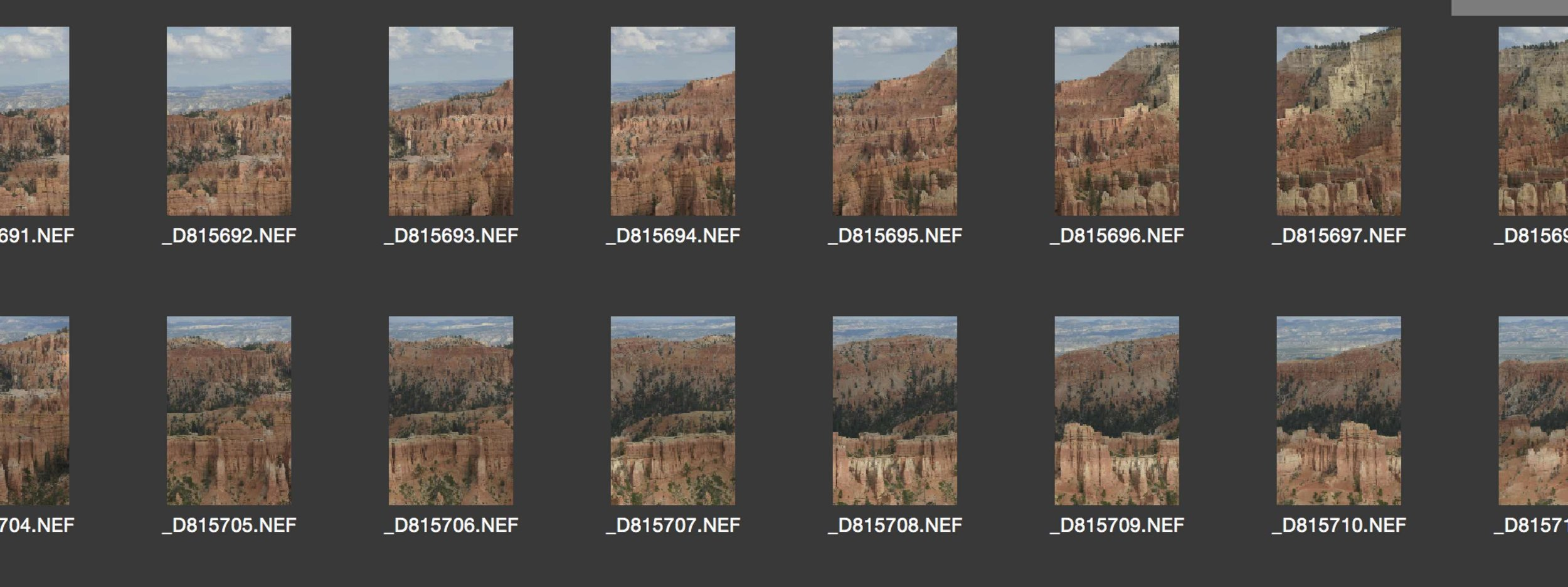 Some Frames of my Bryce Gigapixel photo