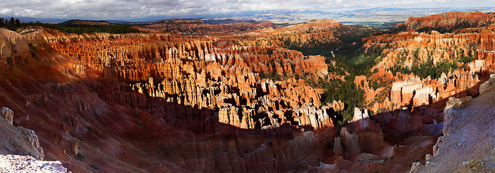 An overview of the gigapixel photo of the Bryce Canyon