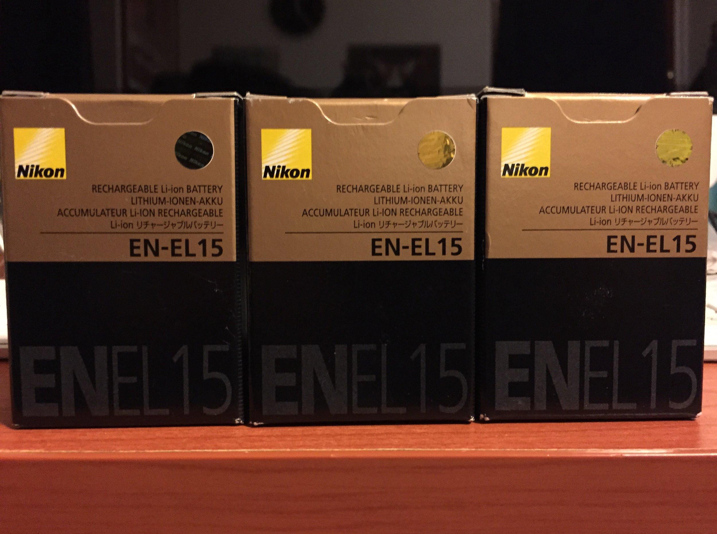 Attrezzatura : Nikon Batteries