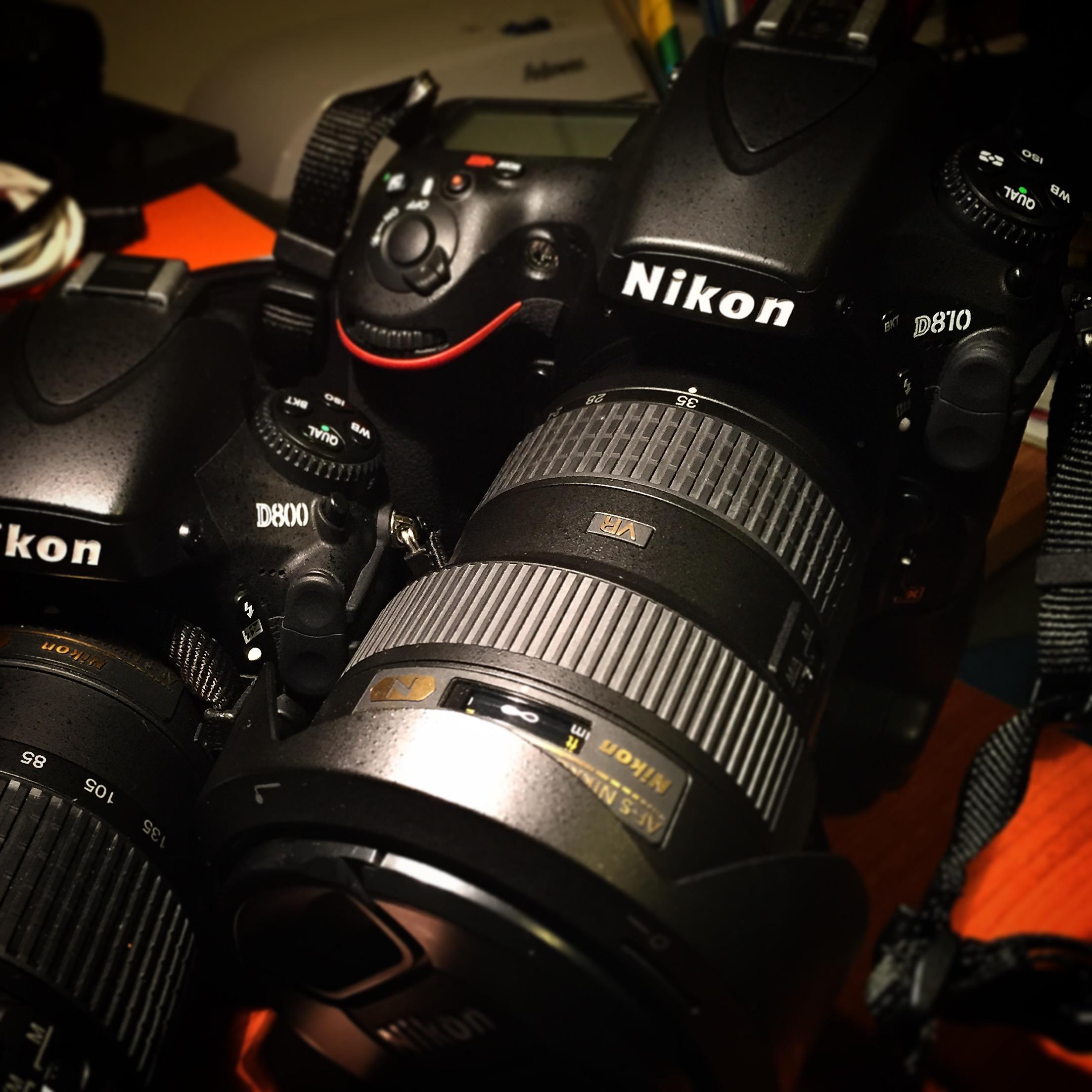 Attrezzatura : My two Nikon Camera D800 bodies