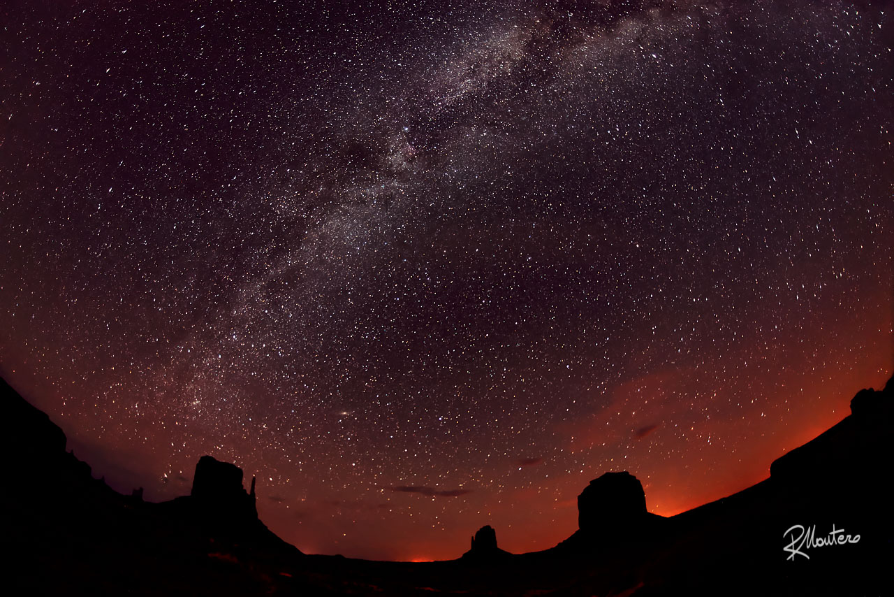 Nightwatch at The Monument Valley under the Milky Way