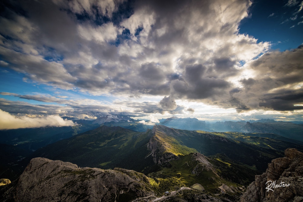 A single shot of The Dolomites Mountain Range from the top shot with the Irix 11mm f/4
