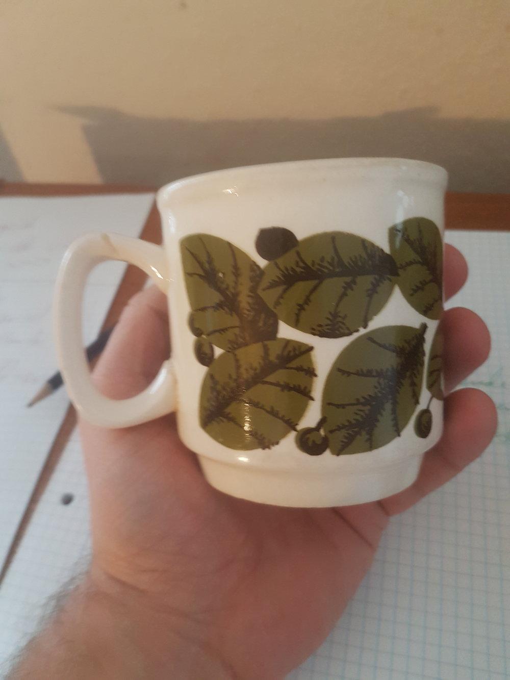 Koppen har jeg stadig, og det var den jeg drak af, mens jeg skrev dette indlæg :)