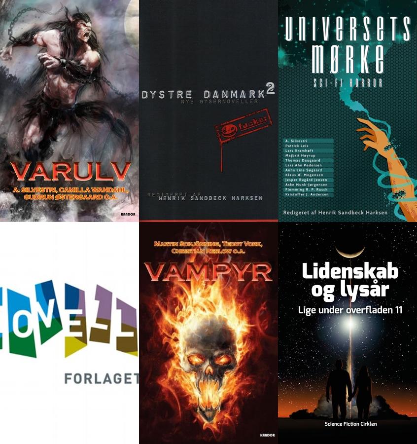 De seks steder, hvor de 'gamle' noveller i  Jeg ved godt, du er der  først blev udgivet.