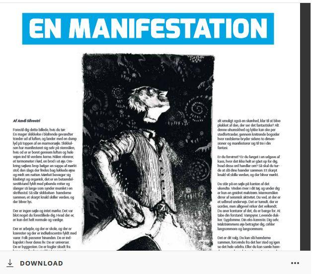 Essayet om horror jeg skrev til København Læsers program. Illustreret af Tom Kristensen.
