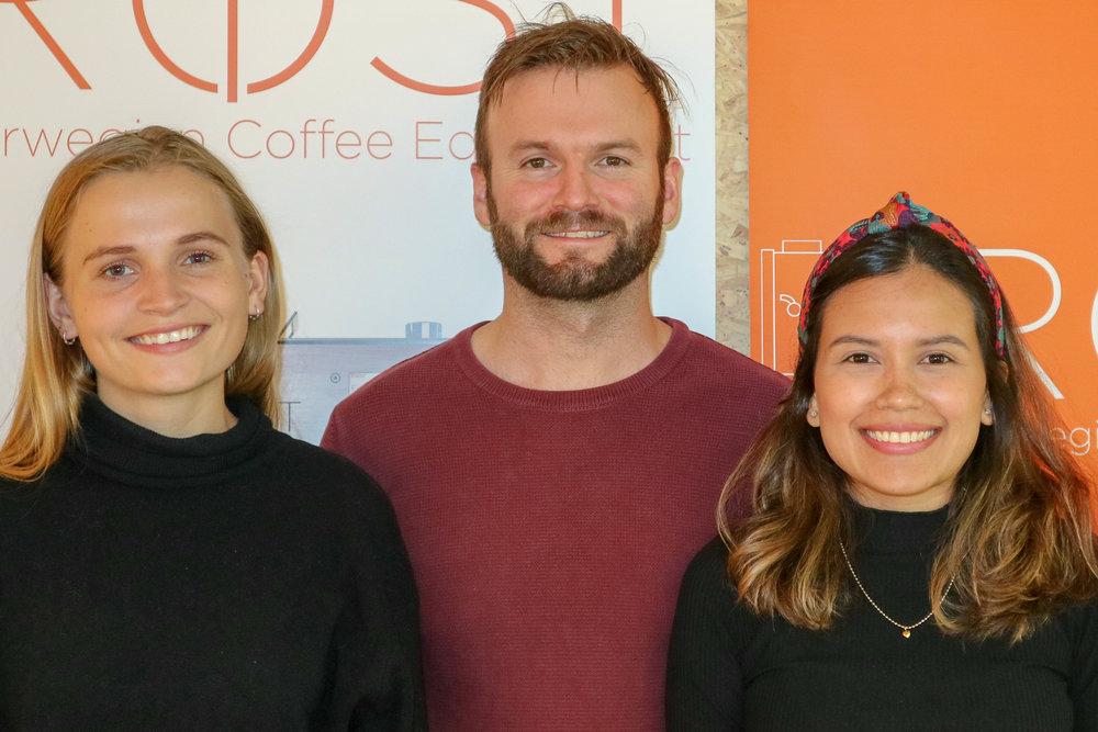 Andrea, Øyvind and Maria.