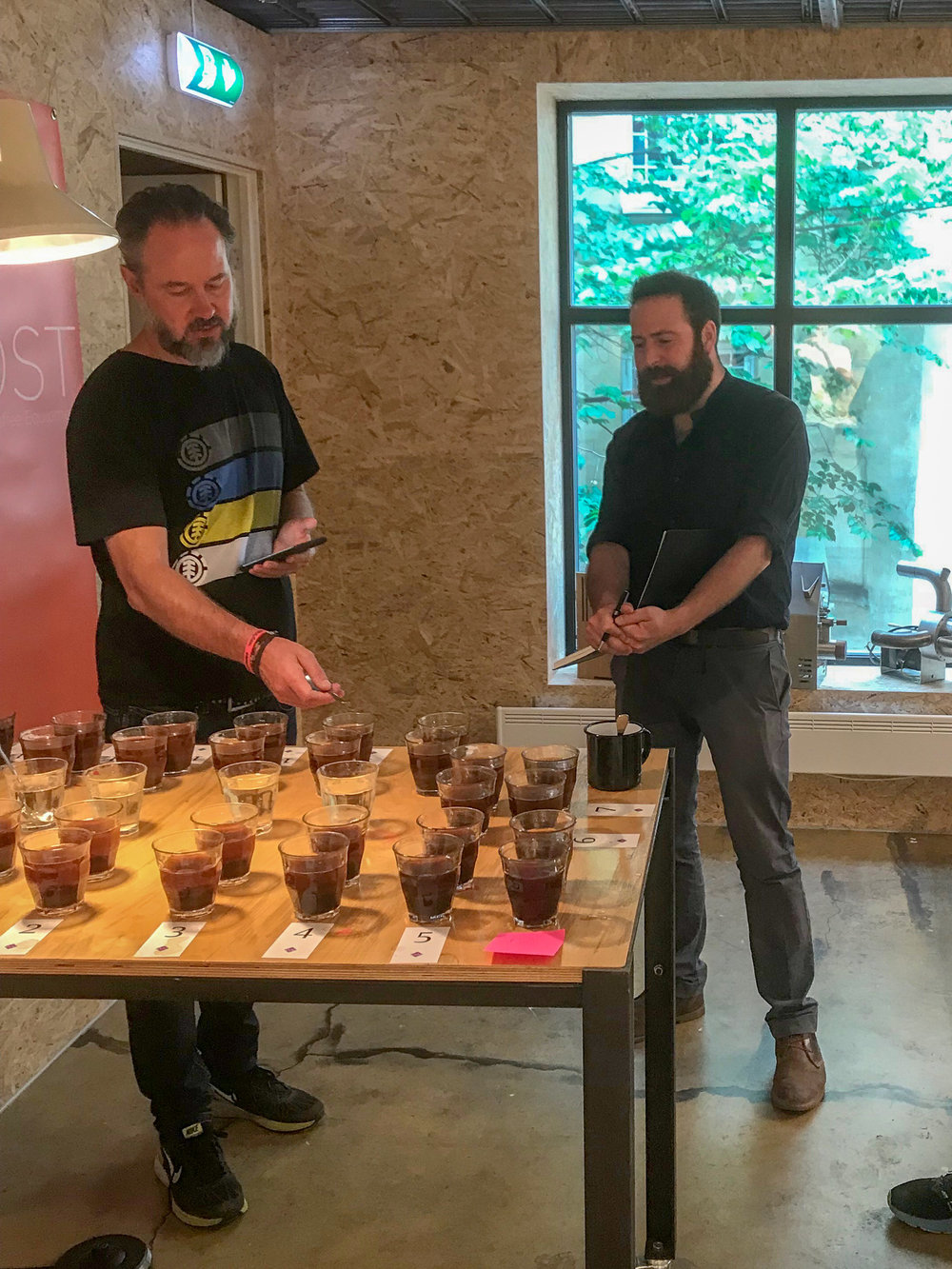 Cupping with Morten Wennersgaard.
