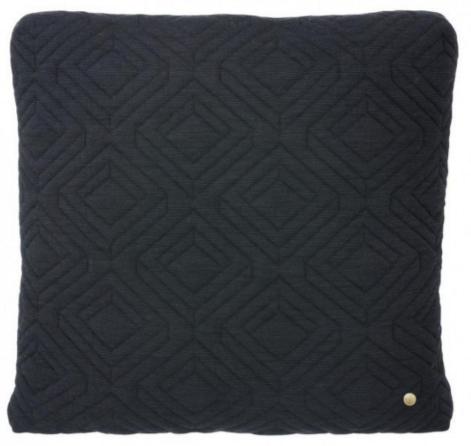 Ferm LIVING Dark Grey Quilt Cushion