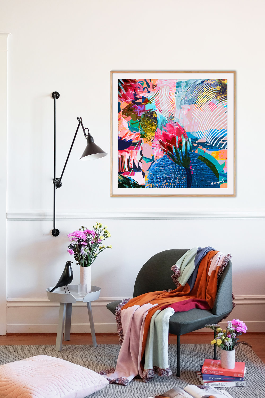 Artwork:  Protea Oasis