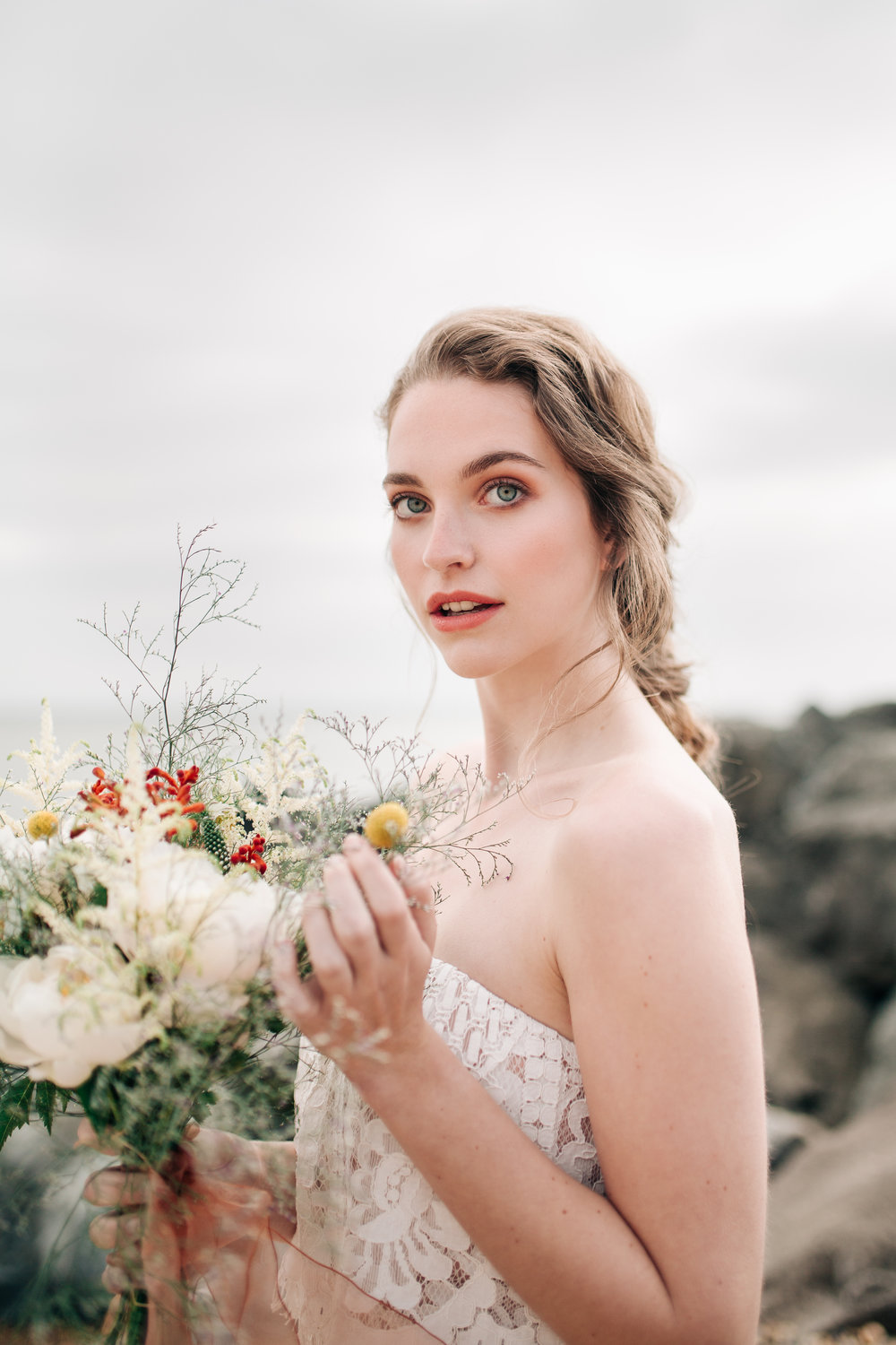 Bridal photos for Glow Organic Brighton