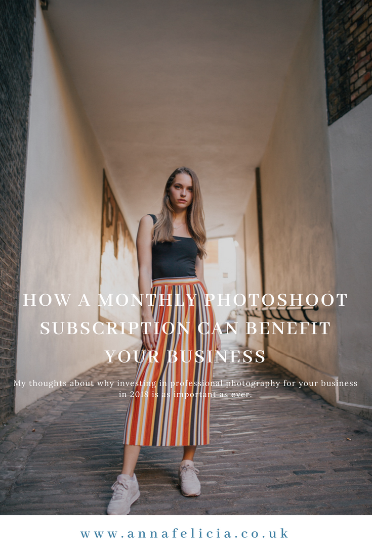 Photography subscription monthly pin