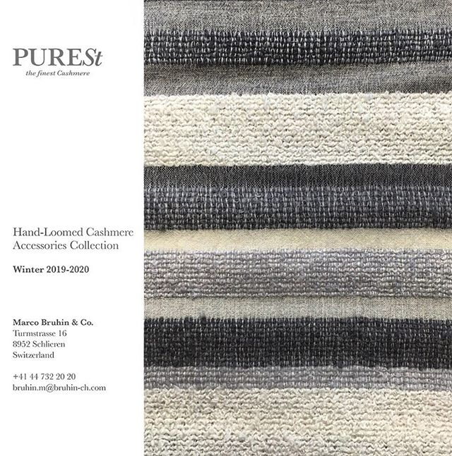 We gladly invite the professional buyers in Switzerland to discover Winter Collections in the Marco Bruhin showroom @modeagenturmarcobruhin in Zurich Schlieren.  Yours, Purest team.  #modeagenturmarcobruhin #PURESTCashmere #cashmerescarf #cashmerescarves #showroom #swissbrand #luxurycashmere