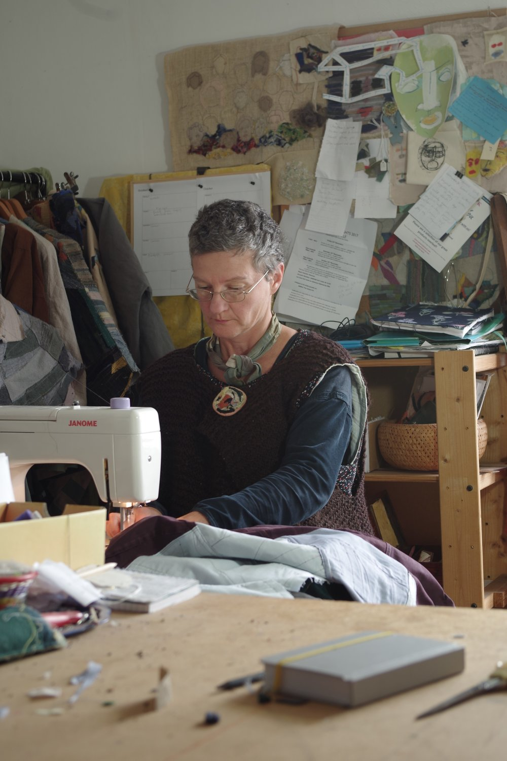 Gemma Textiles - Gemma Textiles designs and creates thoughtful, striking and inspiring clothes for the independent woman. All Gemma Textiles clothes are hand-made by Gemma Buxton in her workshop on the south coast of the UK.All of my designs have evolved out of garments I made originally for myself when I couldn't find clothes on the high street or in vintage stores that defined how I felt about myself or worked properly for my lifestyle.I've always been interested in how fashion creates shapes for people to inhabit. This fascination in form and the body led me to study sculpture at college, and has combined with a lifelong love of the potential for colour and texture in fabric, to help me create this collection of signature garments.To be happy within ourselves and our environment, I think it's important live as carefully and sustainably as possible. Gemma Textiles clothes focus on using reclaimed textiles, either from post-consumer waste or dead stock from the fashion industry. I'm also investigating how to best integrate carefully sourced, home-dyed organic linens.The recognisable colour-block style of Gemma Textiles clothing means that every garment is truly one of a kind.