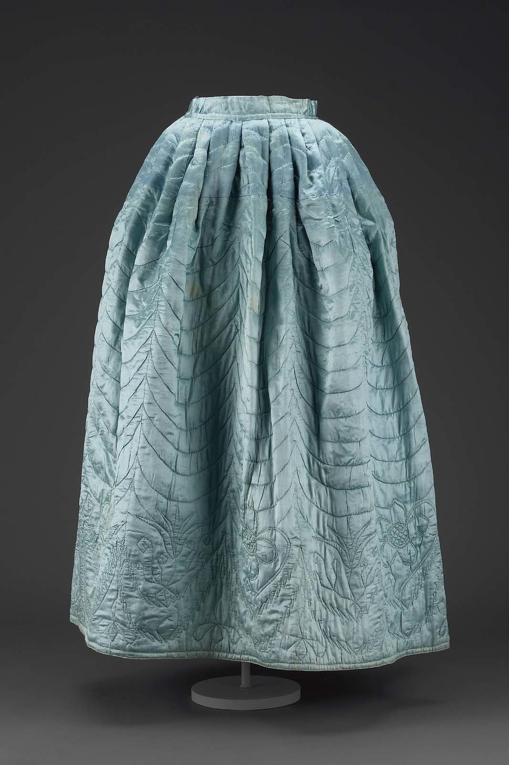 Eighteenth Century quilted petticoat.  http://www.mfa.org/collections/object/womans-petticoat-49973
