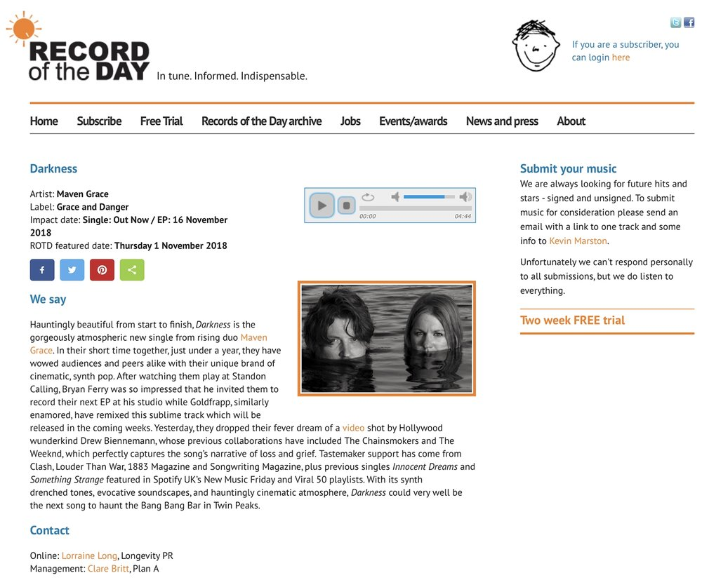 Maven Grace Darkness RECORD OF THE DAY Review.jpg