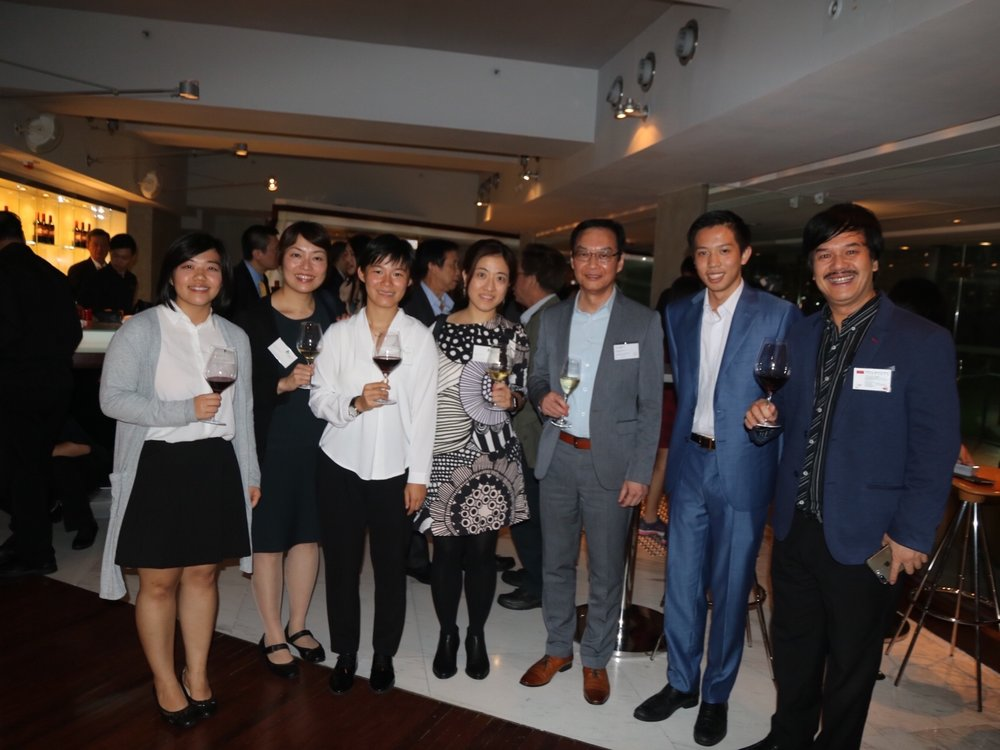 Guests of the Party with Director C S Wai (3rd Right) and Founder & President Joseph Wan (2nd Right)