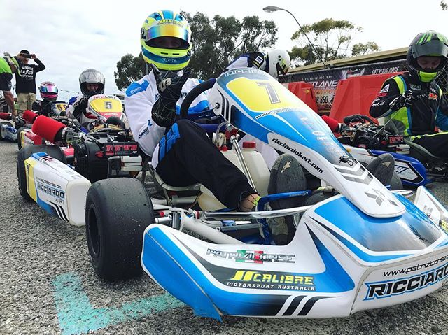 Enjoyed the first hit out in the 4SS class on the weekend 👊🏼 | #calibremotorsport @toriniengines @ricciardo_kart