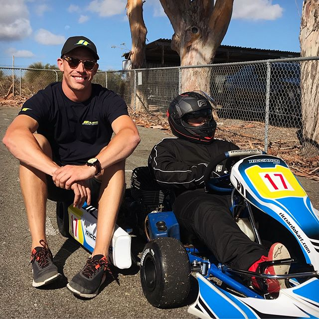 Great day of driver training in the books! Jayden improved his laptimes by over 2 secs and set a new PB in the process! ✊🏼 | #calibremotorsport #driver #coach @ricciardo_kart