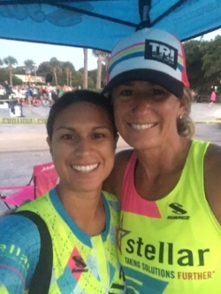 Vanessa & skye at HOT triathlon 2017