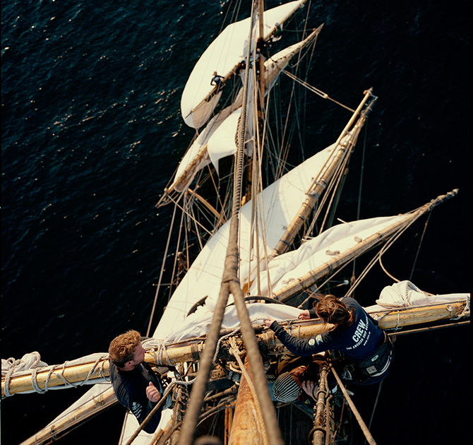 Skeppsfakta - Fartygstyp: SegelfartygFärdigbyggd: 2005Längd x Bredd:47 x 11 mGross Tonnage: 788 tonAnropssignal: SLOAIMO: 8646678MMSI: 266198000Huvudmaskiner: 2 x 404kW