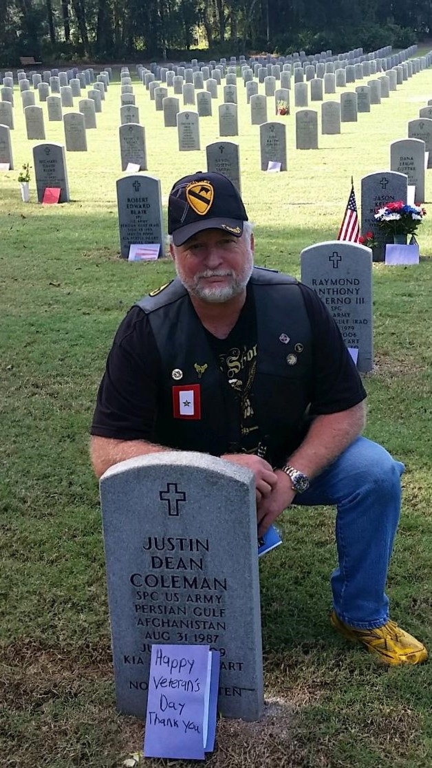 Board Member - Gold Star father Dean Coleman.  Dean is the father of Army Specialist Justin D. Coleman. Justin was killed in action July 24, 2009 in Nuristan Province, Afghanistan.  Dean serves on our Board of Directors.
