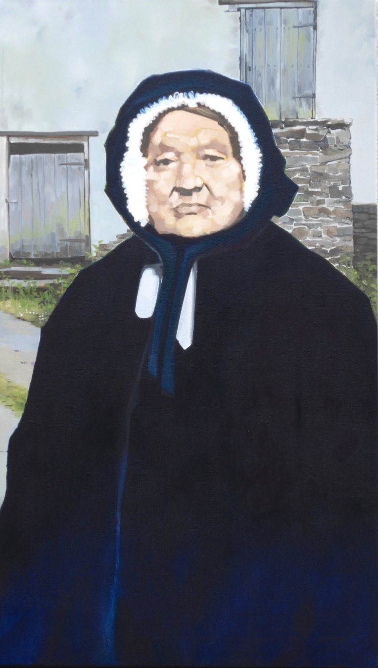 Woman with bonnet