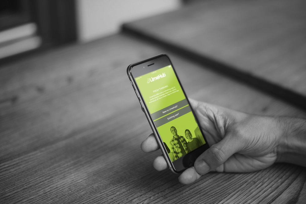 LimeHub Phone Shot MONO.jpg