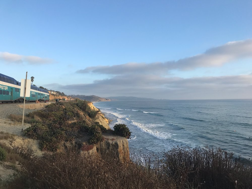 The view from our front yard; Del Mar, California
