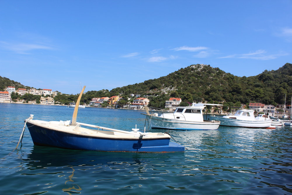 The beautiful bay of  the town we stayed in , just a little over a mile from Lastovo
