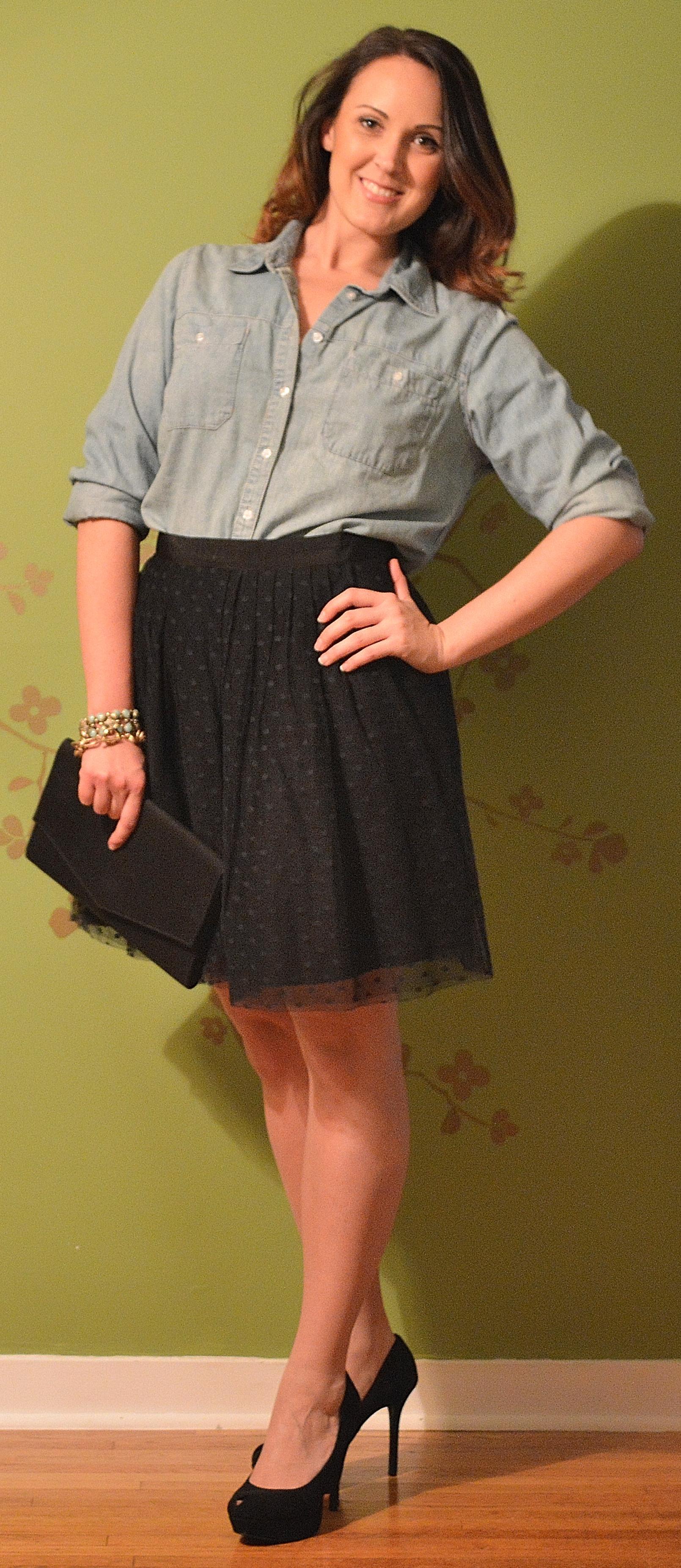 chambray skirt 6