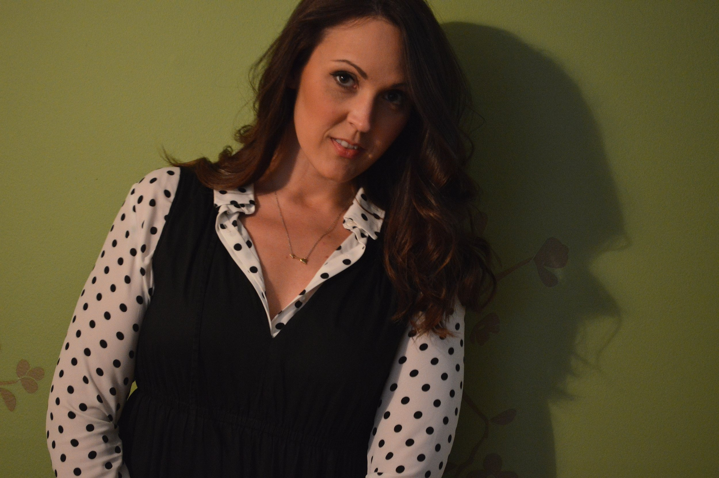 black dress polka dot 3