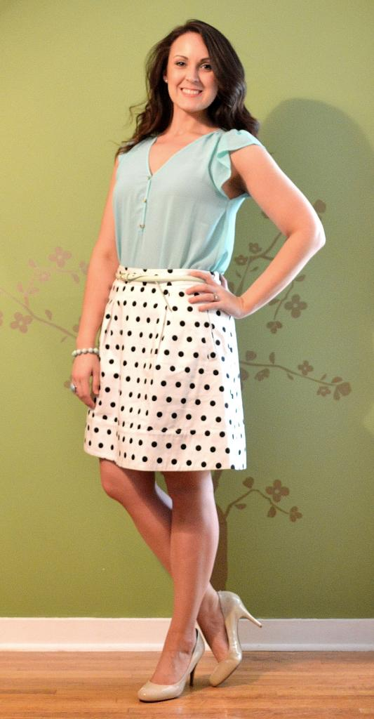 mint polka dot good 1