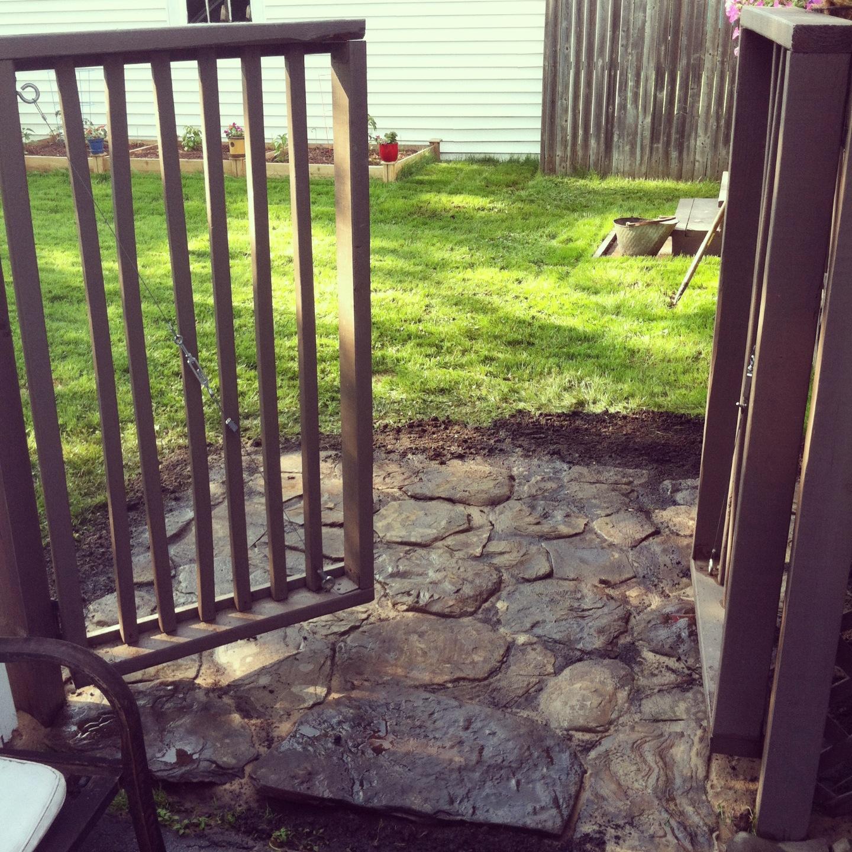 backyard stones