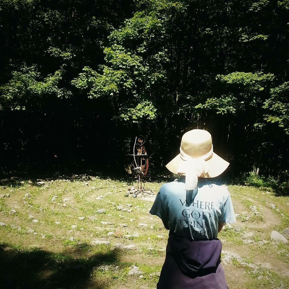 Jessica at Labyrinth.JPG