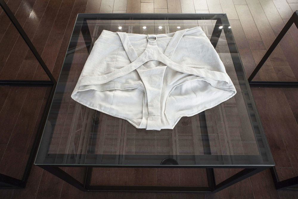 The garment on display for the exhibition.