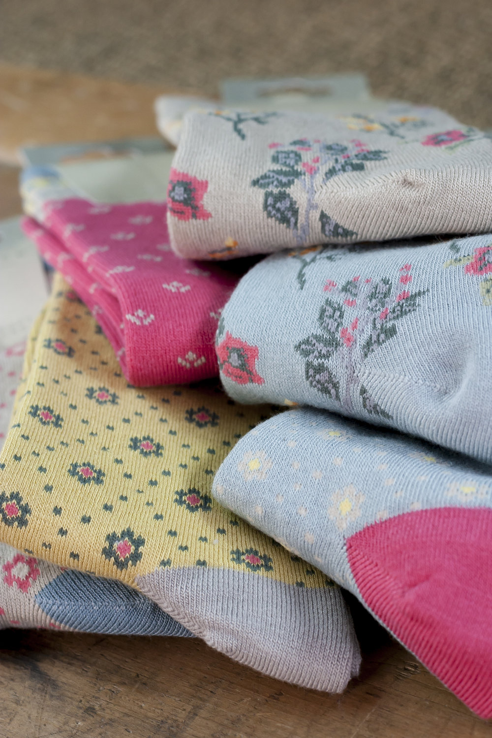 Soft, bamboo socks in a range of patterns and colours.
