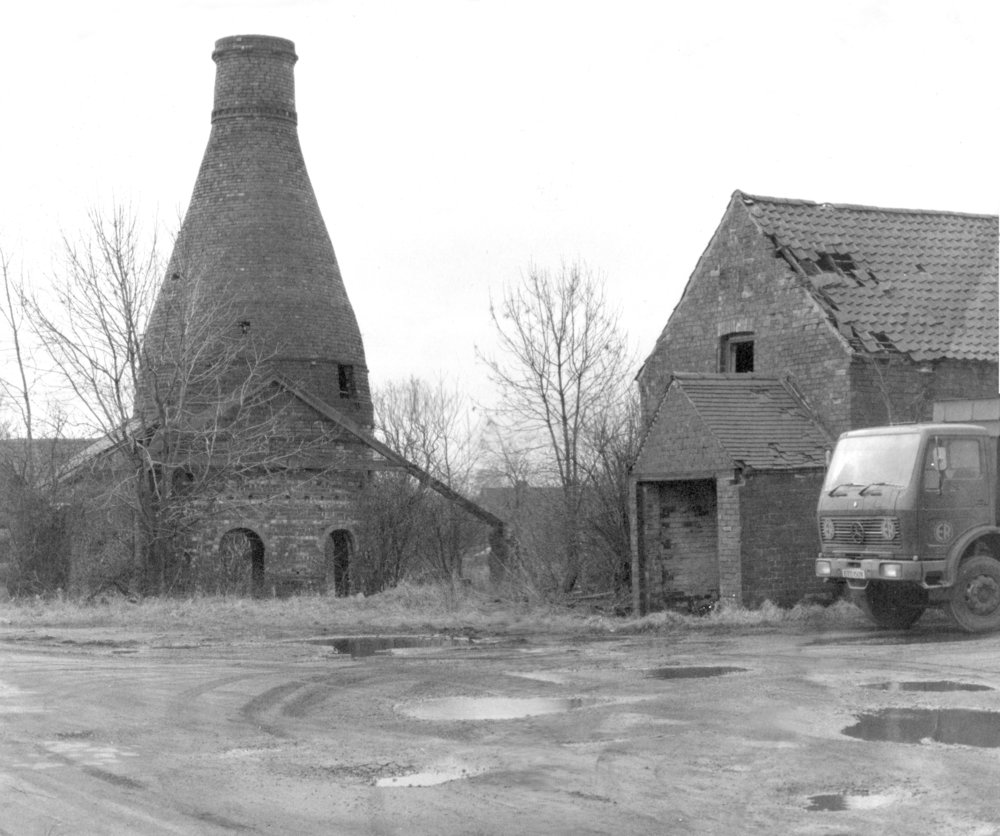 The old, derelict Bottle Kiln before being rebuilt