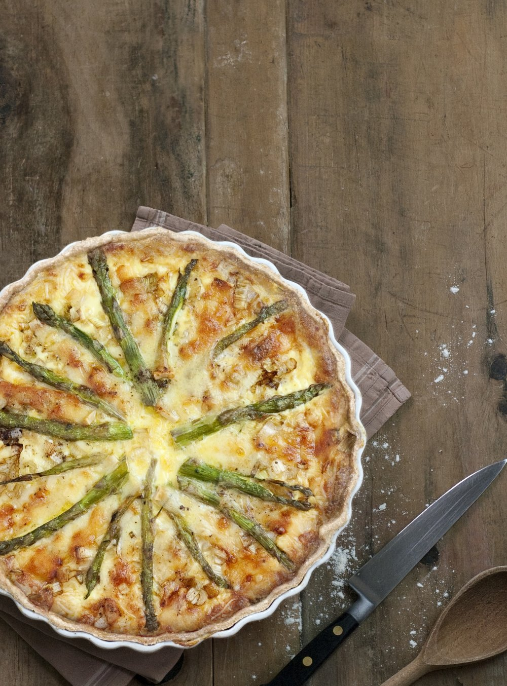 asparagus and cheese quiche