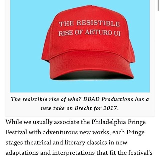 Our ears were burning all night. Thanks so much to Mark Cofta for the mentions.  Read for yourself  http://www.broadstreetreview.com/wnwn/mark-coftas-philly-fringe-picks-theater-classics-reimagined  #resistibleriseofarturoui #resist #theatre