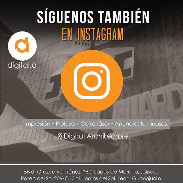 Síguenos en instagram y mantente al tanto de los servicios que tenemos para ti.