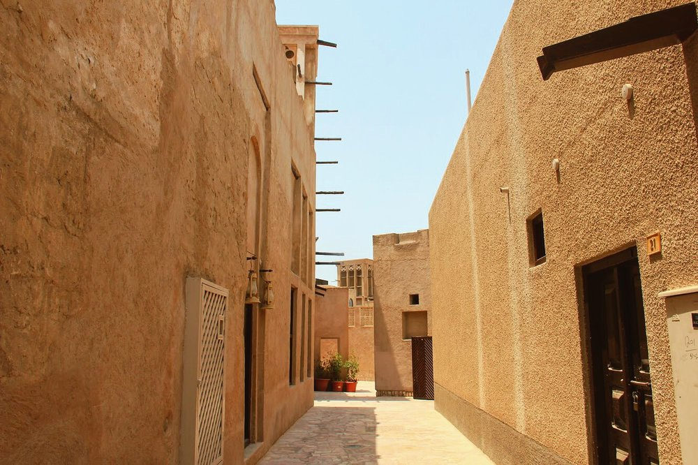 It is nice to look back in time and remember how beautiful and simple old Dubai's architecture was while walking around Al Fahidi.