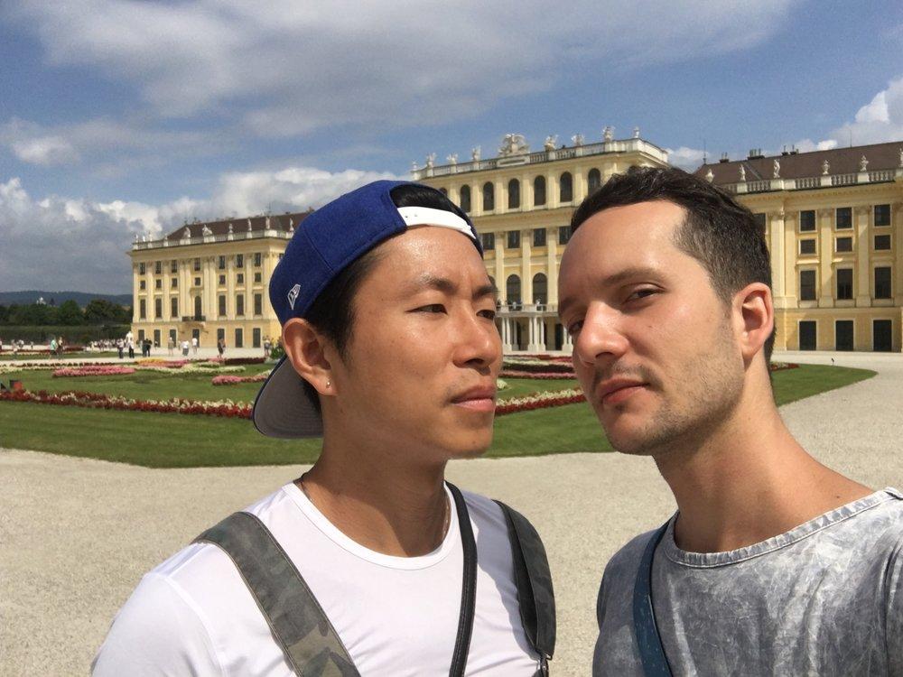 Selfie time in Schönbrunn Palace :P