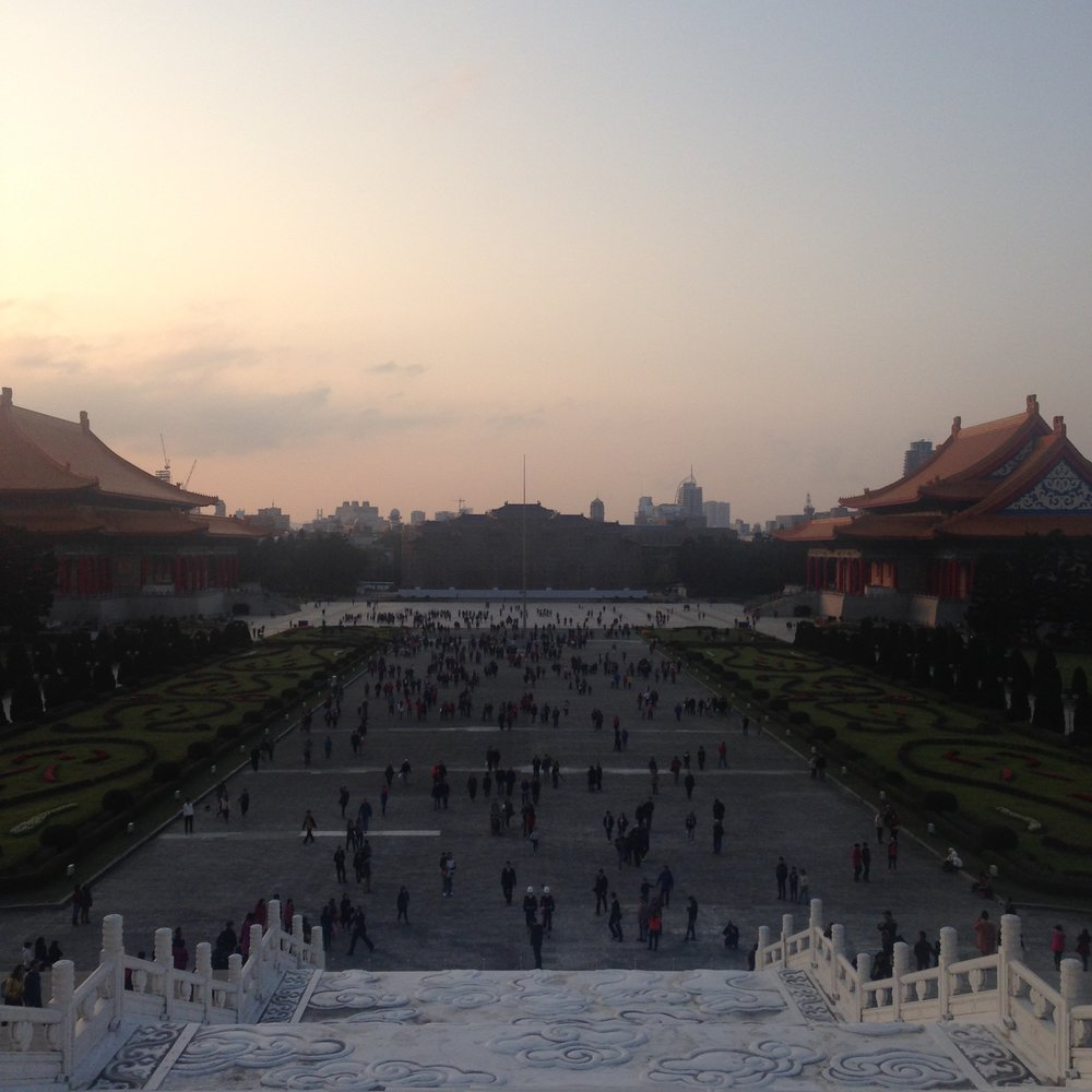 Sunset from the Chiang Kai-Shek Memorial Hall.